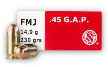 CASE OF 20 HANDGUN 45 GAP 230GR FMJ 50RD/BX