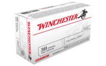 Winchester USA 38SPL 130GR FMJ