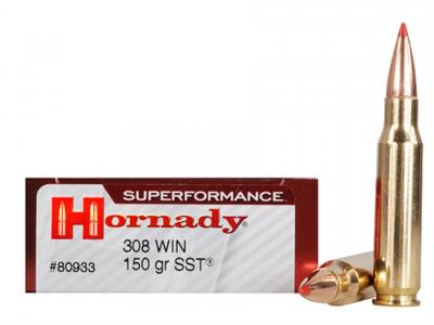 Hornady Superformance SST 308WIN 150GR/165GR  20/200