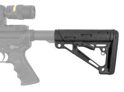 AR-15/M-16 OverMolded Collapsible Buttstock - Fits Mil-Spec Buffer Tube