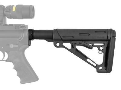AR-15/M-16 OverMolded Collapsible Buttstock Assembly - Includes Mil-Spec Buffer Tube and Hardware