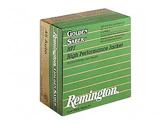 Remington Golden Saber 45ACP 185GR/230GR BJHP 25/500