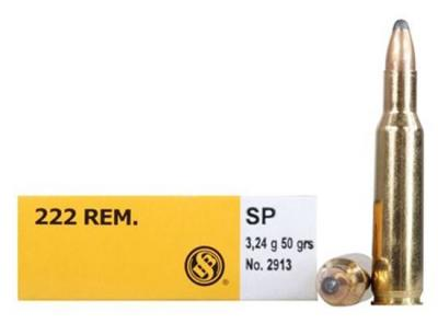 CASE OF 60 RIFLE 222 REM 50GR SP 20RD/BX