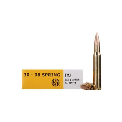 CASE OF 20 RIFLE 30-06 SPR 180GR FMJ 20RD/BX