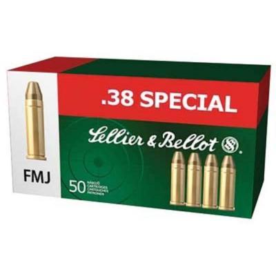 HANDGUN 38 SPL 158GR FMJ 50RD/BX