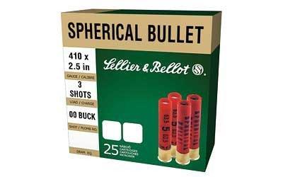 CASE OF 20 SHOTSHELLS 410 BORE #000 3 BALLS 25RD/BX