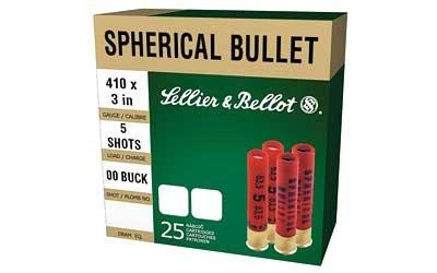 CASE OF 20 SHOTSHELLS 410 BORE #00 5 BALLS 25RD/BX