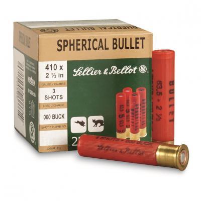 Case of 20 Shotshells .410 SD #000 Lead Buckshot 15 BB 25/BX