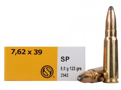 CASE OF 30 RIFLE 7.62X39 123GR SP 20RD/BX